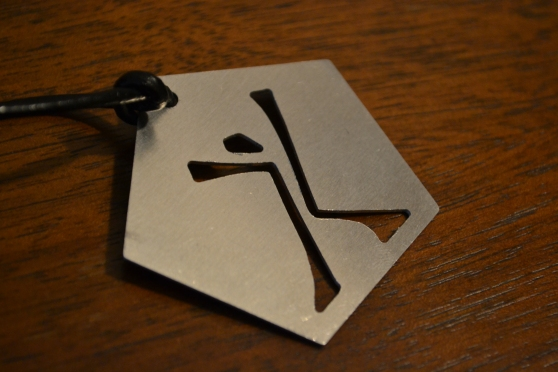 Aluminum cut pendants Designed by Embrace team member Johan Thornton $15 each